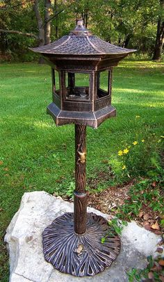 Pagoda Lantern Style Bird House w Antique Bronze Finish [ID 16754] #OaklandLiving