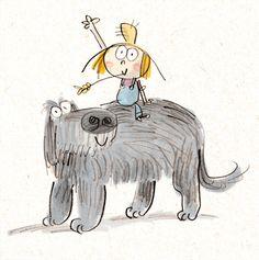 boy and dog - Fred Blunt
