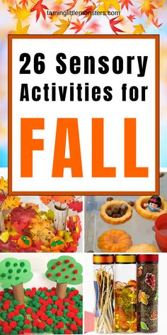 25 Fall sensory activities for kids. Are you looking for Fall or Autumn activities to do with your toddlers and preschoolers? These sensory play ideas are perfect for letting kids explore the colors, textures and wonders of the changing seasons. #fall #autumn #sensory #toddlers #preschooler Sensory Activities Toddlers, Autumn Activities For Kids, Sensory Bins, Activities To Do, Sensory Play, Toddler Preschool, Toddler Crafts, Play Ideas, Autumn Theme