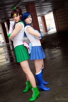 Pretty Guardian Sailor moon Sailor Jupiter (Makoto Kino) - me Sailor Mercury - Skiv The Great Photo -Green My cosplay on Video from convention [link] Y. ...  sc 1 st  Pinterest & The 38 best Sailor Moon images on Pinterest | Costumes Sailor moon ...
