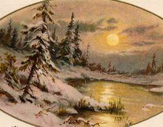 Beautiful Vintage John Winsch  New Years by VintagenutsInc on Etsy