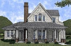 Comfortable Country Home Plan - 19146GT | 1st Floor Master Suite, Country, Farmhouse, Narrow Lot, PDF, Shingle, Wrap Around Porch | Architectural Designs