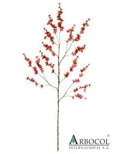 Flor Durazno Roja 8784  $36675    1.30 cms largo x 6 cms ancho