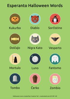 Halloween words. #Esperanto