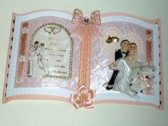 3D Buchkarte Hochzeit Nr. 461 von *M 3d, Frame, Etsy, Decor, Paper Mill, Map Wedding, Vintage Cards, Newlyweds, Invitations