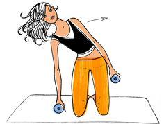 Dimanche : spécial taille fine - Ma semaine fitness pour maigrir : 8 minutes par…