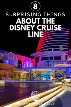 Planning a Disney Cruise Line trip? Here are 8 surprising things about the Disney Cruise Line including food and entertainment. Disneyland Cruise, Disney Cruise Ships, Walt Disney World Vacations, Family Vacation Destinations, Disney Trips, Family Vacations, Disney Land, Disney Travel, Vacation Ideas