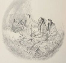 Nagi Gluhapi - Keeping of the Soul -  The Sacred White Buffalo Woman told the Lakota when they die, their souls must be purified so they can reunite with Wakan Tanka - the Great Spirit.