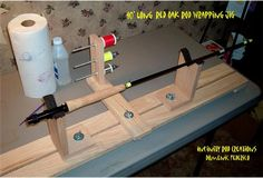 Homemade fishing rod wrapper constructed from oak and hardware. Fishing Rigs, Fishing Tools, Fishing Equipment, Fly Fishing, Custom Fishing Rods, Bamboo Fly Rod, Lure Making, Cool Fish, Fishing Accessories