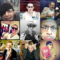 Middle right I'm dead😂😂 Chester Rip, Linkin Park Chester, Charles Bennington, Chester Bennington, Music Love, Music Is Life, Linking Park, Joe Hahn, Rob Bourdon