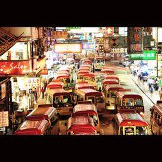 Hong Kong - Red Mini buses!!