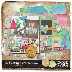 TLP Ultimate Vacation Day 15  Michelle Godin designs mini kit great kit to do with my granddaughter!  {A Summer Crafternoon}