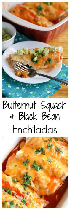 Butternut squash and black bean enchiladas #YesYouCan #ad