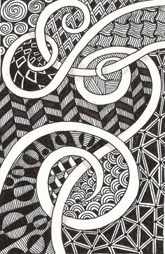 Zentangle love the white space