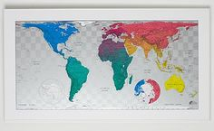 The Future Mapping Company - Colour maps - an alternative and thought-provoking vision of our planet, using an equal-area projection to represent countries in their correct proportional size.  41 Temple Street