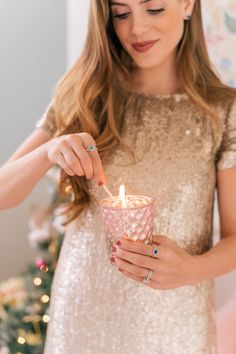 Gal Meets Glam Office Holiday Prep - PANDORA Rings, Earrings & Necklace c/o #sponsored