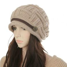 Now  at our store Womens Fashion Kintting Beanie Warm Casual Solid Hat Winter come see at A Sheek Boutique.