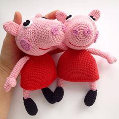 Amigurumi peppa pig crochet pattern