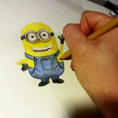 Minion how to draw tutorial soon on youtube☺