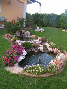 4 Lively Tips AND Tricks: Backyard Garden Border Retaining Walls modern backyard garden beautiful.Diy Backyard Garden Cheat Sheets small backyard garden tips. Backyard Garden Landscape, Front Yard Landscaping, Landscaping Ideas, Backyard Ponds, Backyard Waterfalls, Backyard Ideas, Garden Ponds, Koi Ponds, Landscape Rocks