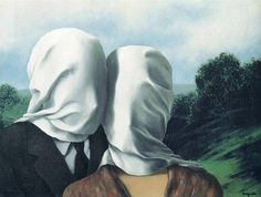 """The Lovers"" by Rene Magritte, oil, 1928"