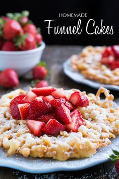 Homemade Funnel Cakes that taste just like the ones at the fair!