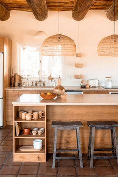 Interior Modern, Home Interior, Kitchen Interior, New Kitchen, Kitchen Decor, Kitchen Rustic, Natural Kitchen, Southwest Kitchen, Communal Kitchen
