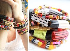 alisaburke - cool noodle beads... the possibilities are endless!