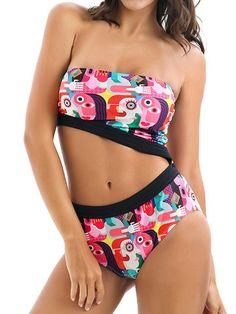Yonique Womens 2 Piece Tankini Swimsuit Halter Floral Bathing Suit High Neck Keyhole Swimwear Black Polka Dot XL