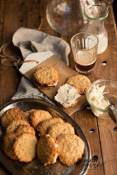 Oatmeal cookies with white chocolate ganache recipe - option translate / galletas de avena con ganache de chocolate blanco