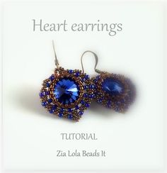 Instant downdoad Heart earrings tutorial English by ZiaLolaBeadsIt