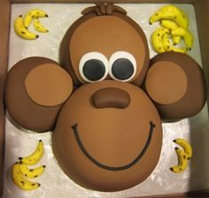Monkey Face Cake By Heatherly30 on CakeCentral.com