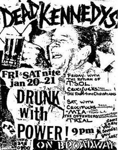 Dead Kennedys, TSOL, Crucifucks punk hardcore flyer