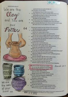 The Gospel Diet : Learn to Trust the Potter's Hands Bible Journaling http://www.thegospeldiet.blogspot.co.uk/2016/01/learn-to-trust-potters-hands.html