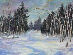 """Along the Camp Road"" Acrylic"