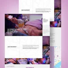 Sitio web de ML Cosmetología Desktop Screenshot, Design Web