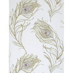 Buy Prestigious Textiles Peacock Wallpaper, Heather, 1938/153 Online at johnlewis.com