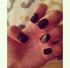 black is classy .. Nails
