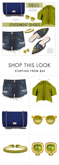 """""""Most of you know that trees need pruning in order to grow properly and bear fruit. Pruning involves cutting off the dead branches and cutting back the living branches, both to shape the tree or vine and to stimulate growth.  So much more with our heavenly"""" by marion-fashionista-diva-miller ❤ liked on Polyvore featuring Garance Doré, 3x1, Boohoo, Chanel, Spitfire, Aurélie Bidermann and statementshoes"""