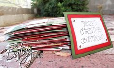The Spouse Christmas Countdown. 25 days of showing your spouse you love him/her. _ I did this last year and loved it. I need to get this together now. NO WAITING TIL LAST MINUTE # Pin++ for Pinterest #