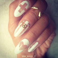 .@nina_nailed_it | Negative space + Nail charm from @Athena Heater!
