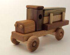 Bloques de juguete de madera del carro w/color por Kazwoodcraft