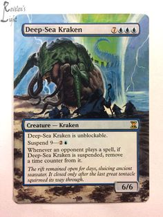 Deep-Sea Kraken - Extended - MTG Alter - Revelen's Light Altered Art Magic Card #WizardsoftheCoast