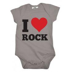 Body Bebê Frase I Love Rock em malha Nuvem Baby & Kids. Moda bebê, Moda Infantil, Roupas de Bebê, roupas Infantis, Fashion Baby, Fashion Kids, bebê roupas, roupas de bebê. www.boobebe.com.br