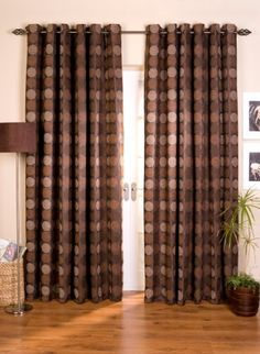 """Tanushree Fully Lined Ready Made Curtains (Chocolate, 46"""" x 54"""" (117cm x 137cm)) , http://www.amazon.co.uk/dp/B00BRYIWNU/ref=cm_sw_r_pi_dp_A5Wvrb0WK5M34"""