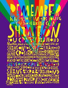 LyricArt: Pink Floyd Shine on You Crazy by RocknRollLyricArt