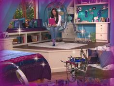 phoebe+thunderman+bedroom | Phoebe's Bedroom Movie Bedroom, Bedroom Couch, Bedroom Decor, Phoebe Thunderman, Teen Girl Bedrooms, Teen Bedroom, Icarly Bedroom, Awesome Bedrooms, Cool Rooms