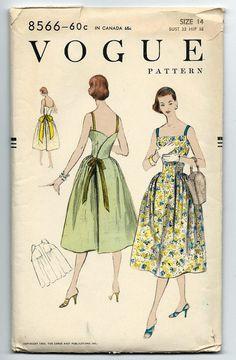 Vintage 50s Vogue 8566 Misses Back Wrap Bare Bodice by RomasMaison