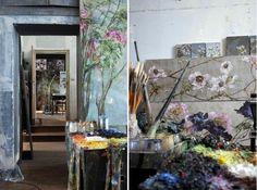 Former French Schoolhouse Turned Enchanting Artist Studio - My Modern Metropolis