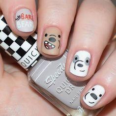 Manicure Nail Designs, Manicure And Pedicure, Nail Art Hacks, Nail Art Diy, Cute Acrylic Nails, Cute Nails, Cute Spring Nails, Solid Color Nails, Animal Nail Art